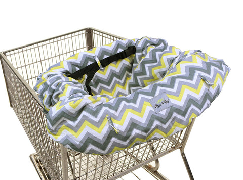 Itzy Ritzy Sitzy Shopping Cart & High Chair Cover, Sunshine Chevron