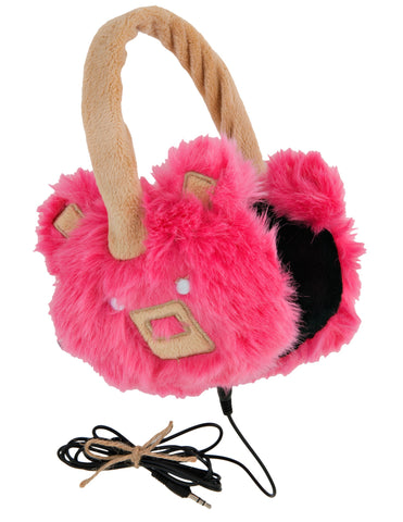 Little Blue House Bear Headphones, Pink