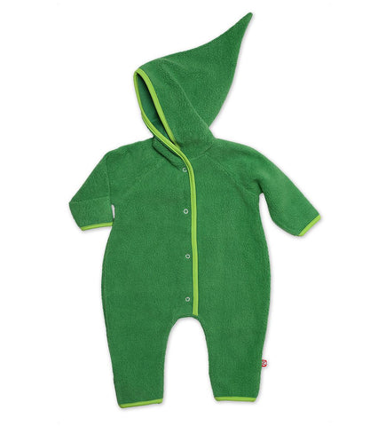 Zutano Cozie Fleece Elf Romper, 12 Months, Apple