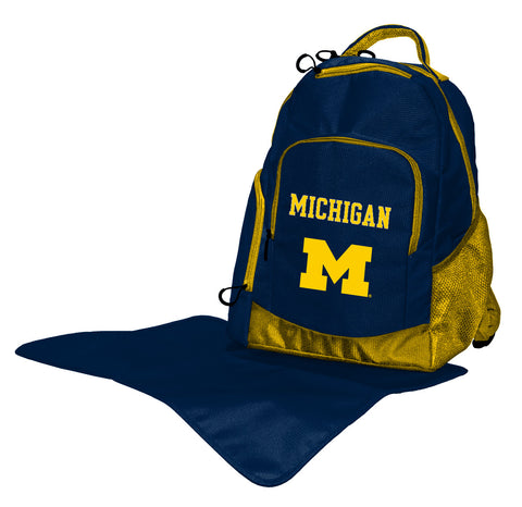 Lil Fan Diaper Backpack College Michigan Wolverines