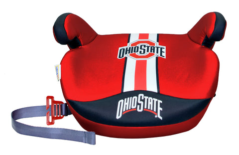 Lil Fan Premium Slimline No Back Booster Seat - Ohio State Buckeyes