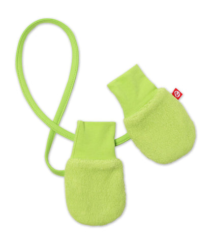 Zutano Cozie Fleece Mitten, One Size, Lime