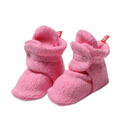 Zutano Cozie Fleece Bootie, 12 Months, Hot Pink