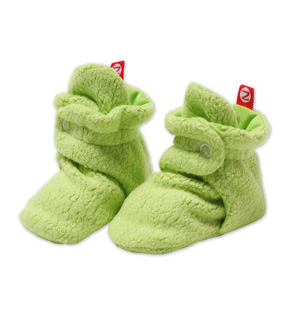 Zutano Cozie Fleece Booties, 18 Months, Lime