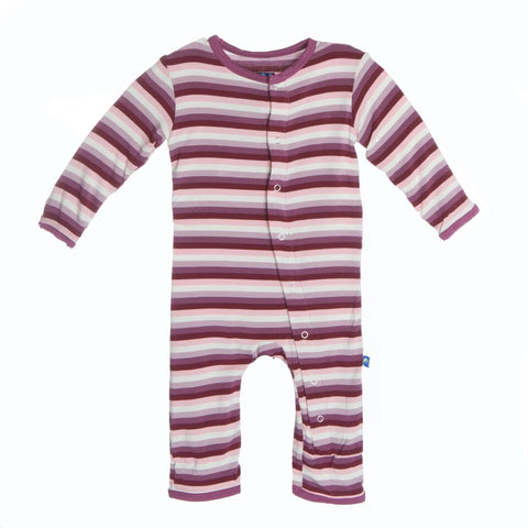 Kickee Pants Print Coverall, 12-18 Months, Girl Dino Stripe