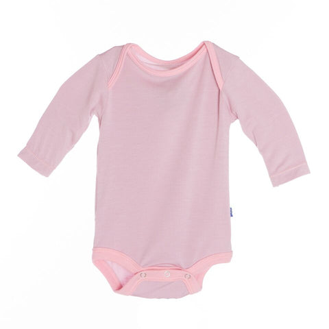 Kickee Pants L/S One Piece, 12-18 Months, Sweet Pea