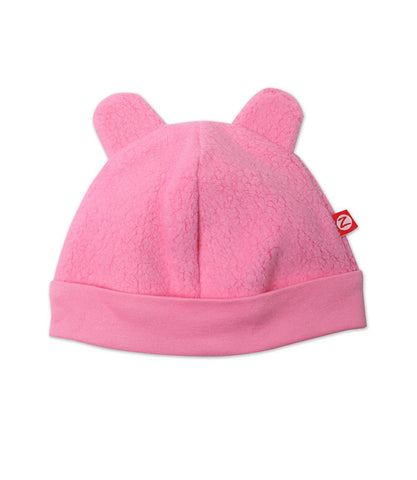 Zutano Fleece Hat, 6 Months, Hot Pink