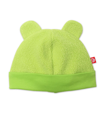 Zutano Fleece Hat, 24 Months, Lime