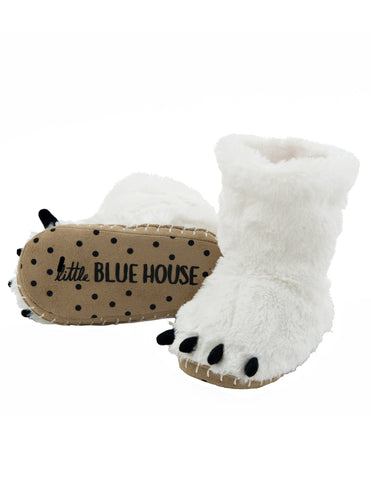 Little Blue House Polar Bear Paws Slipper, Medium