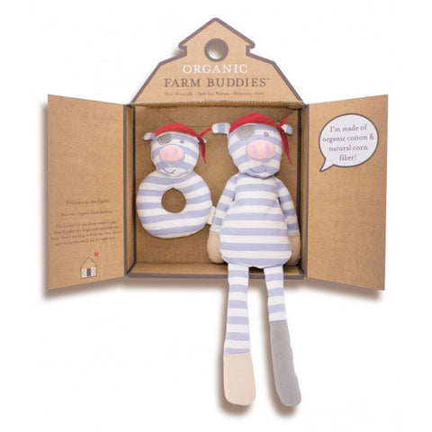 Apple Park Organic Farm Buddies Gift Set, Pirate Pig