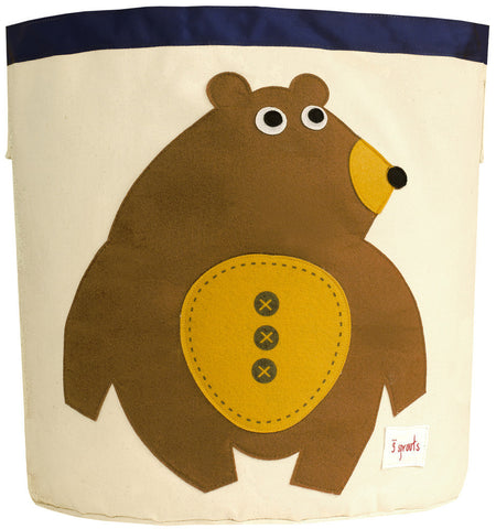 3 Sprouts Storage Bin Bear, Toffee
