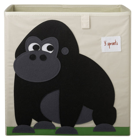 3 Sprouts Storage Box Gorilla, Black