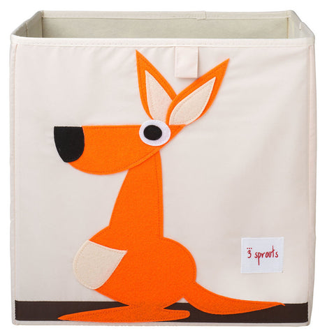 3 Sprouts Storage Box Kangaroo, Orange