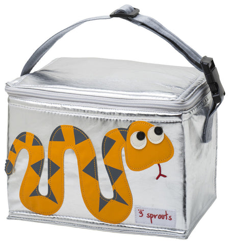 3 Sprouts Lunch Bag Snake, Orange