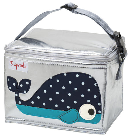 3 Sprouts Lunch Bag Whale, Blue