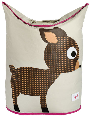 3 Sprouts Laundry Hamper Deer, Brown