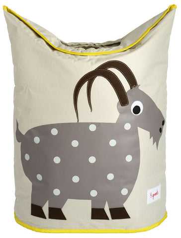 3 Sprouts Laundry Hamper Goat, Gray