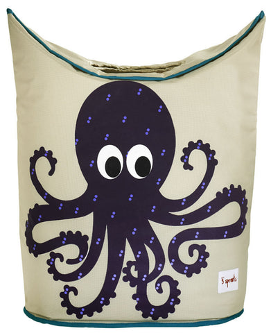 3 Sprouts Laundry Hamper Octopus, Purple