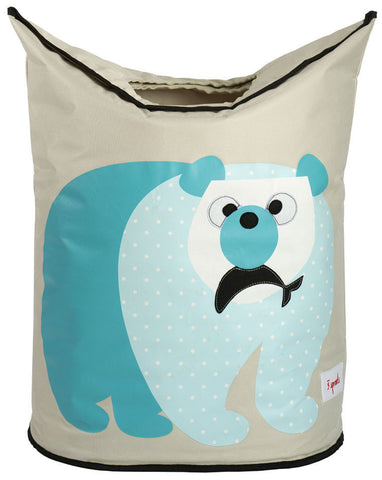 3 Sprouts Laundry Hamper Polar Bear, Blue