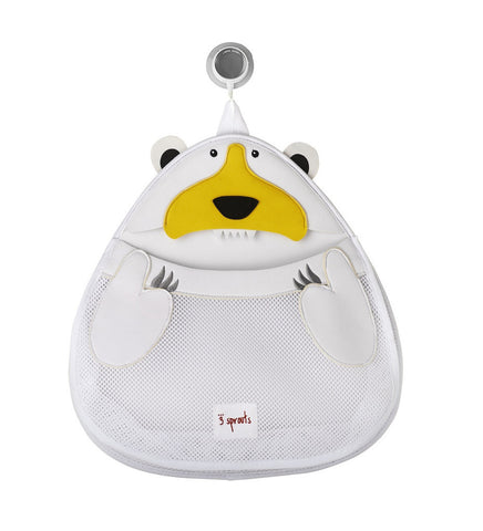 3 Sprouts Bath Storage Polar Bear, White