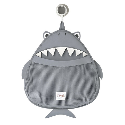 3 Sprouts Bath Storage Shark, Gray