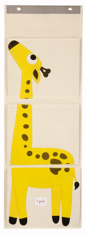 3 Sprouts Wall Organizer Giraffe, Yellow