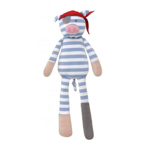 "Apple Park Organic Farm Buddies Plush, 14"", Pirate Pig"