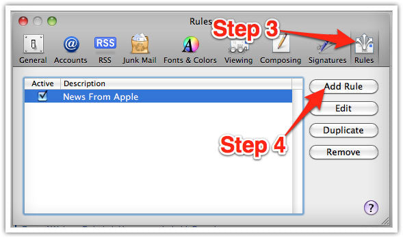 Mac Email Whitelisting Steps 3 and 4