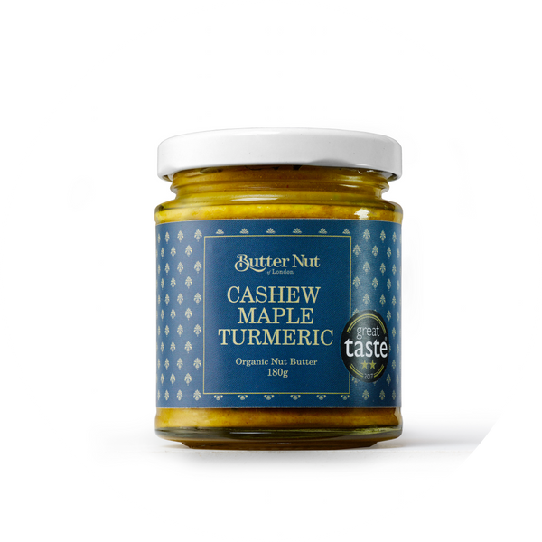 CASHEW, MAPLE AND TURMERIC NUTBUTTER