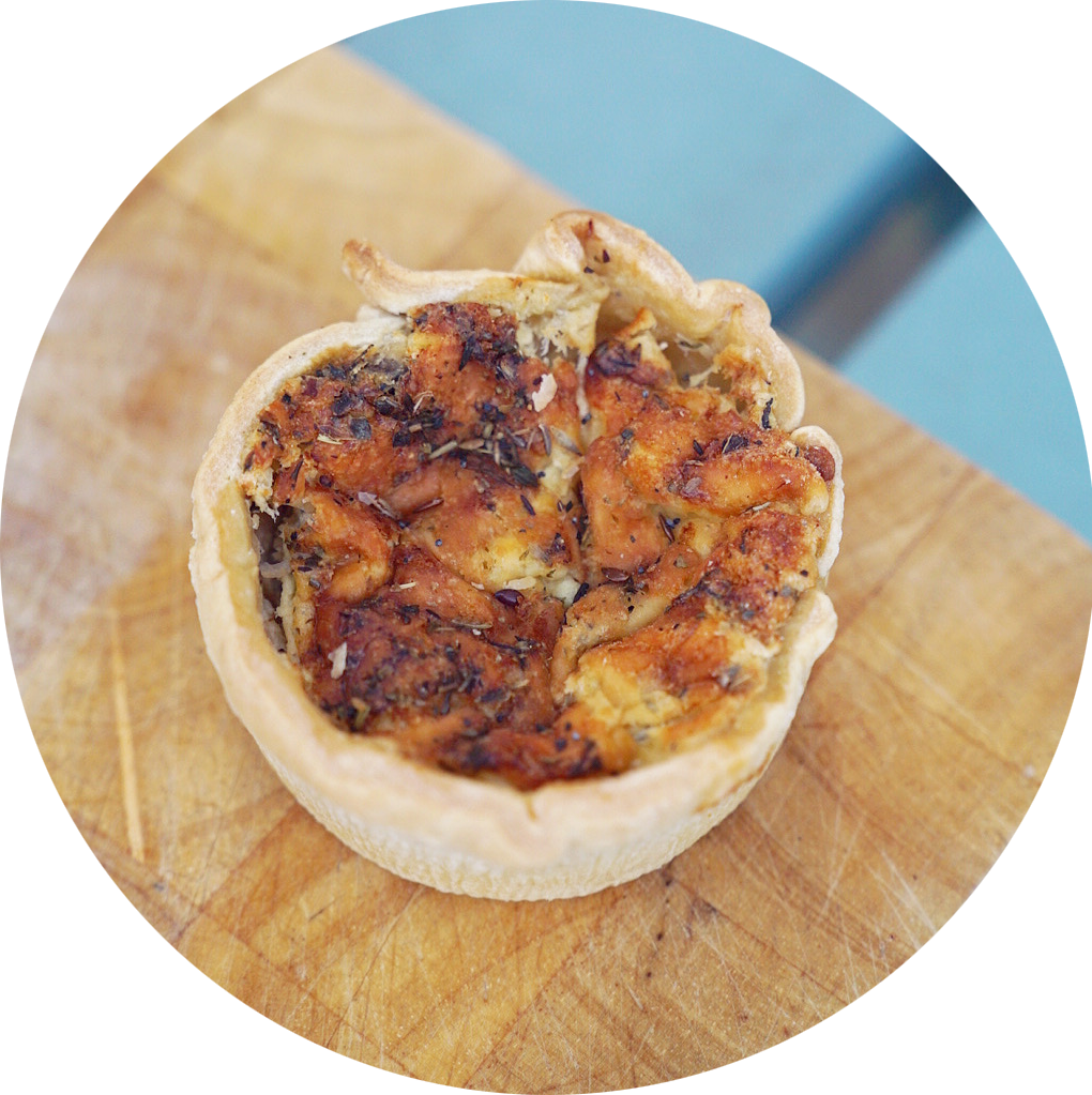 MUSHROOM AND ONION QUICHE