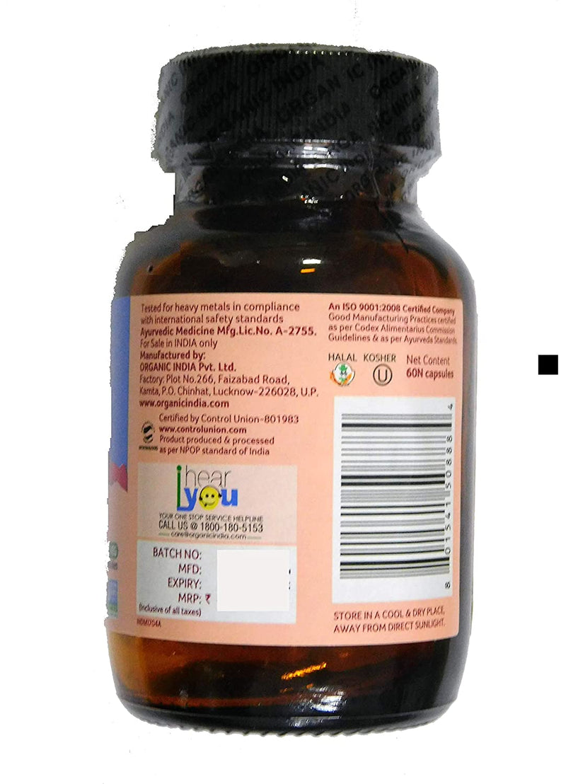 Organic India Women Well Being 60 Capsules Bottle