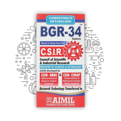 Aimil BGR-34 Tablets (Pack of 4), 400 Tablets