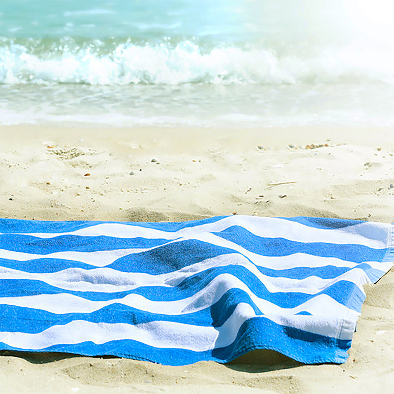 RC Pool Towel-Blue Stripes