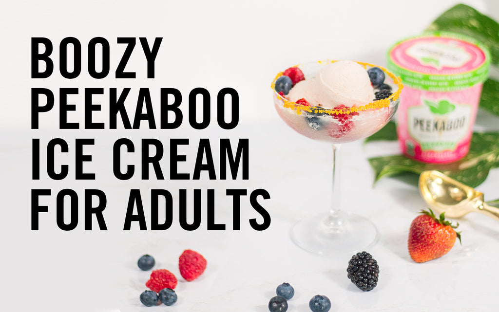 Boozy Peekaboo Ice Cream for Adults