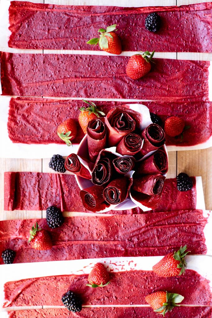 Beet Berry Fruit Roll-Ups