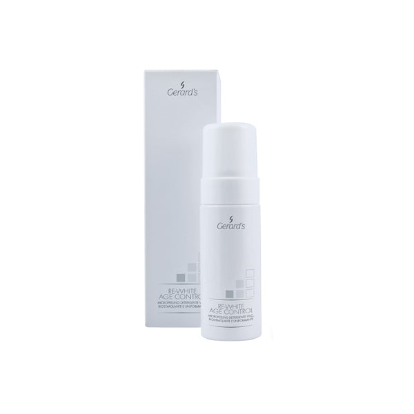 RE-WHITE AGE CONTROL MICROPEELING DETERGENTE BIOSTIMOLANTE E UNIFORMANTE - Gerard's Cosmetic Culture