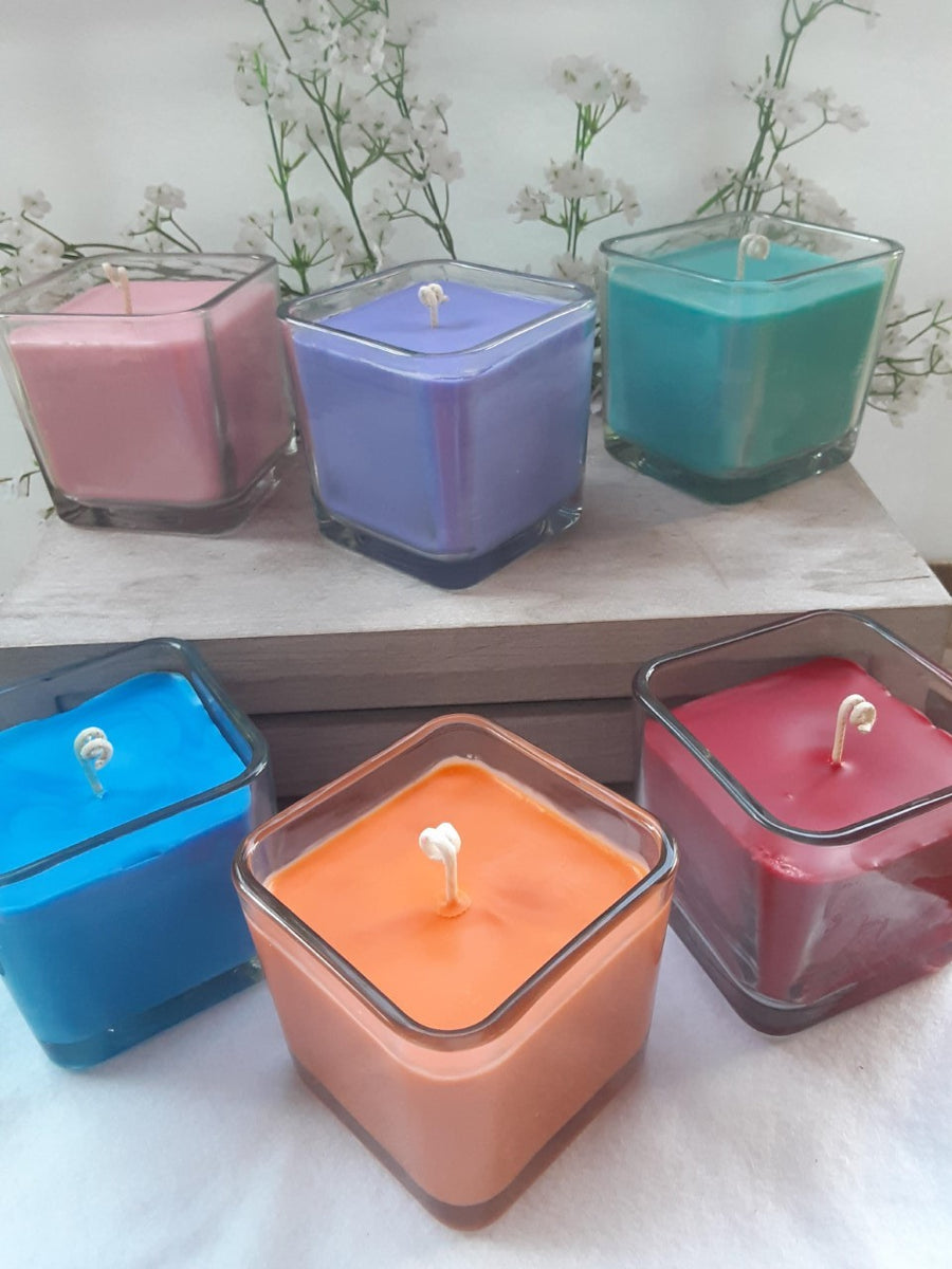 Square Glass Jar Candle Exhale The Store