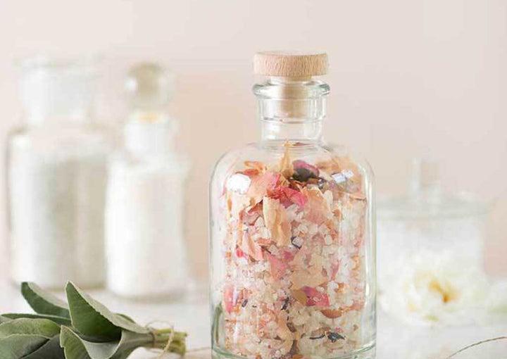 DIY Floral Bath Salts for Summer Hostess Giving