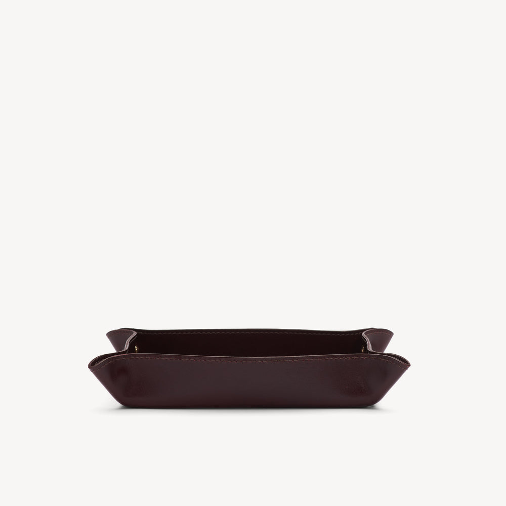 Leather Catchall Bordeaux