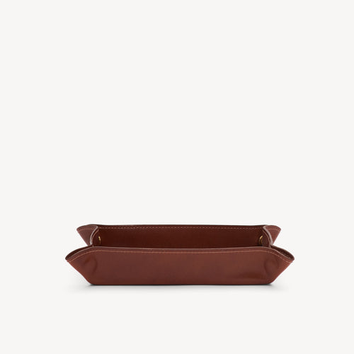Leather Catchall Cognac