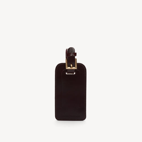 Leather Luggage Tag Bordeaux