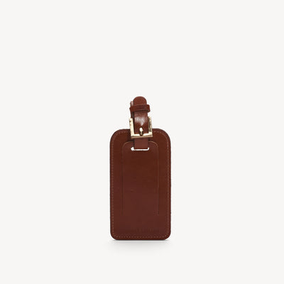 Leather Luggage Tag Cognac