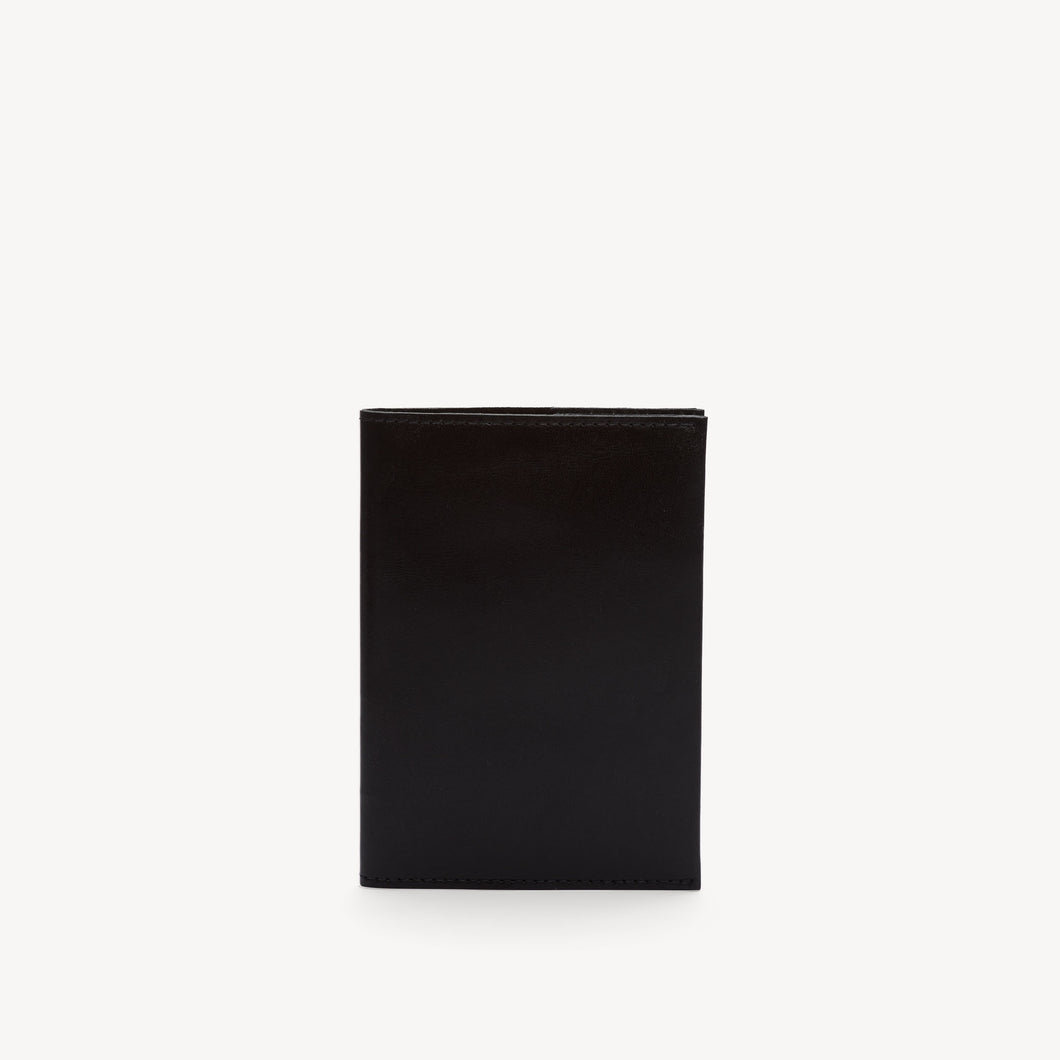 Leather Passport Cover Black