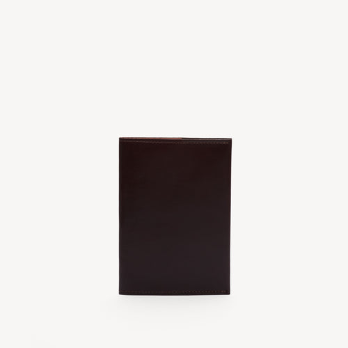 Leather Passport Cover Bordeaux/Blush