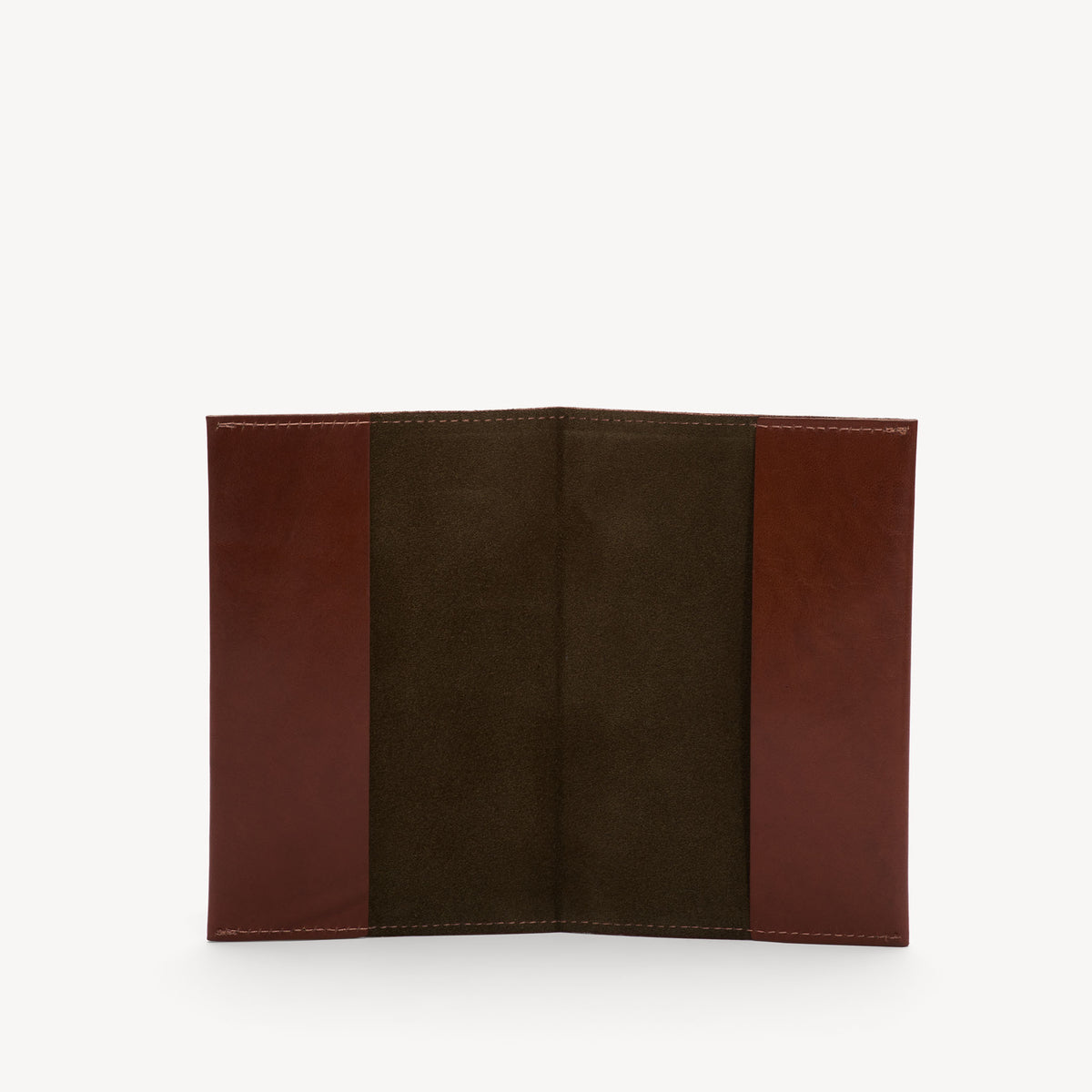 Leather Passport Cover Cognac/Olive