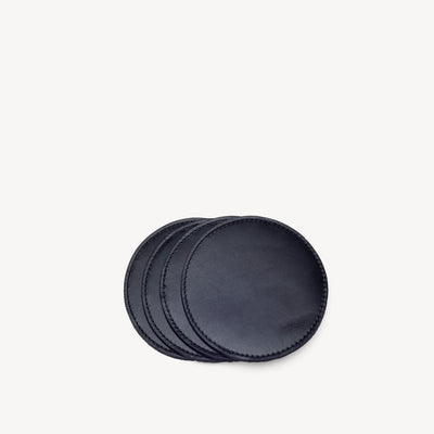 Leather & Suede Coasters Black