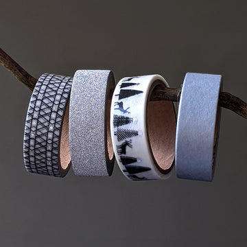 Christmas Washi Paper Tape - Black & Silver - The Danes