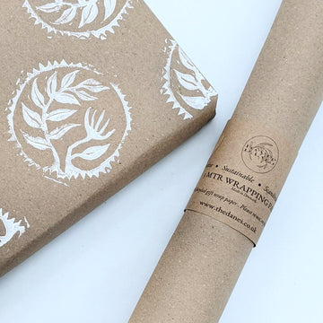 100% Recycled Matt Brown Kraft Wrapping Paper - 5m - The Danes