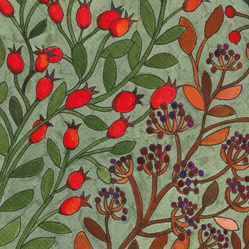 Rosehip & Elderberry Autumn Symphony Napkins - The Danes