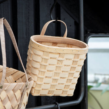 Ash Wood Wall Basket - The Danes